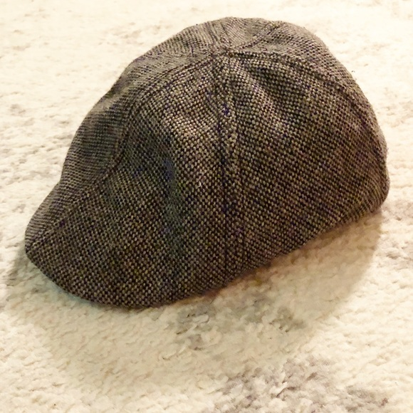 7f62ae838 Black & white tweed wool newsboy cap